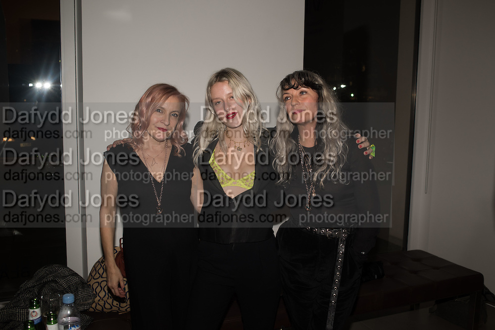 "EMILY BRADBURY; GUEST DJ: HARRIET VERNEY; DAWN HINDLE The launch of Rachel Howard's ""Humble Hanger"" -  a limited edition jewellery collaboration with True Rocks.. BlainSouthern, Hanover Sq. London. 18 November 2015"