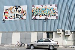 Art galleries at Alserkal Avenue warehouses in Al Quoz district in Dubai United Arab Emirates