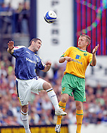 Cardiff - Saturday August 23rd, 2008: Mark Kennedy of Cardiff City and Sammy Clingan of Norwich City during the Coca Cola Championship match at The Ninian Park, Cardiff. (Pic by Paul Hollands/Focus Images)