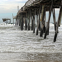 26 July 2011: The Frisco Pier in Frisco, NC has been abandoned and is falling into the Atlantic. I wanted to shoot it before it is gone for good.
