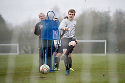CARDIFF, WALES - Thursday, March 15, 2012: Wales U16's Chris Whittaker (Wrexham FC & The Maelor School) during a training session at the Glamorgan Sports Park. (Pic by David Rawcliffe/Propaganda)