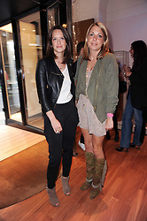 Left to right, ARABELLA MUSGRAVE and Camilla Stopford Sackville at a party to celebrate the B.zero 1 design by Anish Kapoor held at Bulgari, 168 New Bond Street, London n 2nd June 2010.