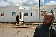 Sejenane is an example of a  Tunisian town that is in the grip of violent Salafis who rule here since April 2011. <br /> Salafi in front of the mosque, the Salafi have expelled the former Imman and installed a young Imman of 22 years old.<br /> <br /> Sejenane est sous l'emprise des  Salafistes violents qui y font la loi et y ont install&eacute; un r&eacute;gime de terreur depuis avril 2011. .Salafiste devant la mosqu&eacute;e, les salafistes ont chass&eacute; l'ancien Imman et install&eacute; un jeune imman salafiste de 22 ans.