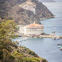 Catalina Island Casino aerial picture. The Catalina Casino is on Santa Catalina Island in Avalon California.