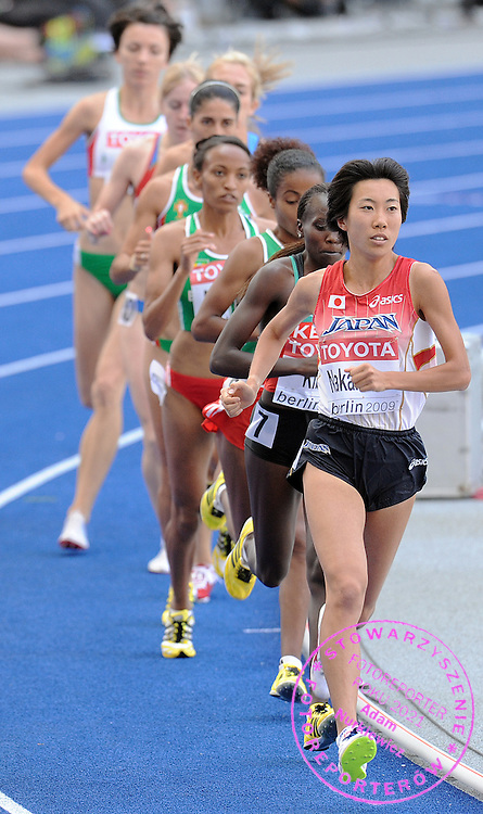 YURIKA NAKAMURA (JAPAN) COMPETES IN 500O METERS WOMEN QUALIFICATION ON THE OLYMPIC STADION ( OLIMPIASTADION ) DURING 12TH IAAF WORLD CHAMPIONSHIPS IN ATHLETICS BERLIN 2009..BERLIN , GERMANY , AUGUST 19, 2009..( PHOTO BY ADAM NURKIEWICZ / MEDIASPORT )..PICTURE ALSO AVAIBLE IN RAW OR TIFF FORMAT ON SPECIAL REQUEST.