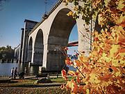 Gamla järnvägsbron över Årstaviken på södra stambanan