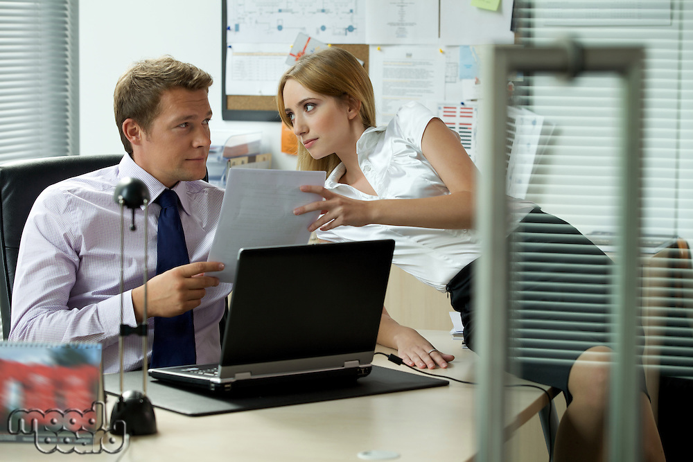 Office love affair concept