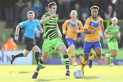 Forest Green Rovers Liam Kitching(20) runs forward during the EFL Sky Bet League 2 match between Forest Green Rovers and Mansfield Town at the New Lawn, Forest Green, United Kingdom on 19 October 2019.