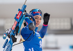 11.01.2018, Chiemgau Arena, Ruhpolding, GER, IBU Weltcup Biathlon, Ruhpolding, Einzel, Damen, im Bild Dorothea WIERER ( ITA ) // during Ladies Individual of BMW IBU Biathlon World Cup at the Chiemgau Arena in Ruhpolding, Germany on 2018/01/11. EXPA Pictures © 2018, PhotoCredit: EXPA/ Ernst Wukits