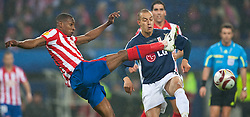 12.05.2010, Hamburg Arena, Hamburg, GER, UEFA Europa League Finale, Atletico Madrid vs Fulham FC im Bild Luis Perea, #21, Atletico Madrid, Bobby Zamora, #25, Fulham FC, EXPA Pictures © 2010, PhotoCredit: EXPA/ J. Feichter / SPORTIDA PHOTO AGENCY