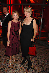 Left to right, VISCOUNTESS LINLEY and SELINA SCOTT at a dinner held at the Natural History Museum to celebrate the re-opening of their store at 175-177 New Bond Street, London on 17th October 2007.<br />