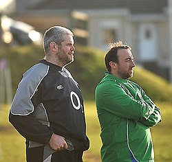Castlebar Junior Rugby Coach Peter Bracken and his assistant Paul Jennings.<br /> Pic Conor McKeown