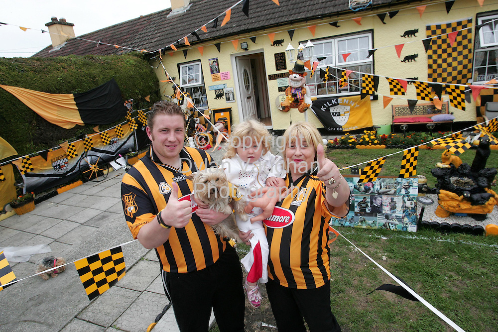 31/8/2006.Myles Kavanagh Jnr Mary Kavanagh and Faith Kavanagh aged 3 pictured  at their home in Kilkenny yesterday..Picture Dylan Vaughan