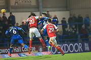 GOAL Ian Henderson equalisers for Rochdale 1-1 during the EFL Sky Bet League 1 match between Rochdale and Fleetwood Town at Spotland, Rochdale, England on 19 January 2019.