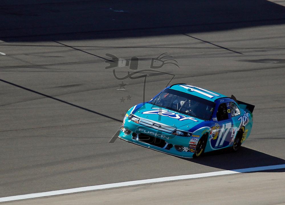 LAS VEGAS, NV - MAR 09, 2012:  Matt Kenseth (17) practices for the Kobalt Tools 400 race at the Las Vegas Motor Speedway in Las Vegas, NV.
