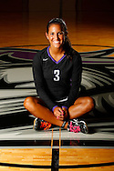 Senior volleyball photos of Danielle Lombari and Audrey Abel by Mike Carlson Photography.
