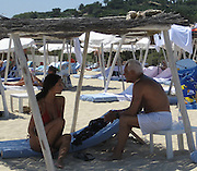 **EXCLUSIVE**.Giorgio Armani relaxing with on the Beach in St. Stropez, France..Friday, July 20, 2007.Photo By Celebrityvibe.com.To license this image please call (212) 410 5354; or.Email: celebrityvibe@gmail.com ;