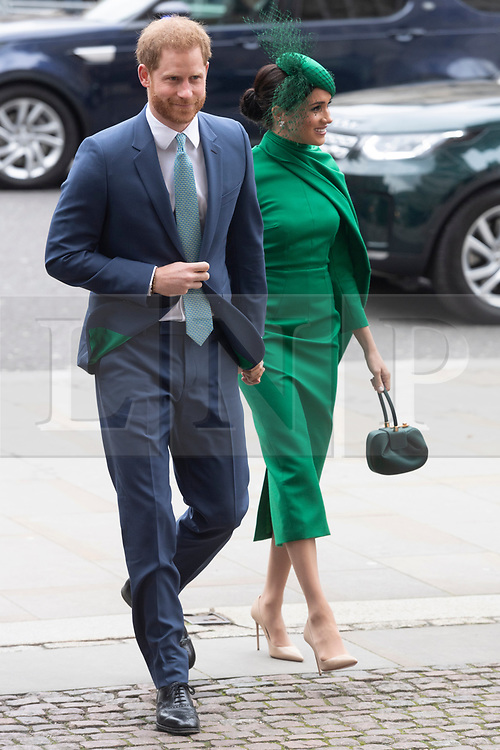 © Licensed to London News Pictures. The Duke of Sussex and Duchess of Sussex  attend the Commonwealth Service at Westminster Abbey. Photo credit: Ray Tang/LNP