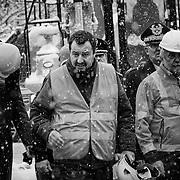 Chiomonte 1 febbraio 2019: Matteo Salvini visita il cantiere TAV di Chiomonte.