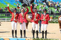 Davis, Lucy (USA);<br /> Farrington, Kent (USA);<br /> Ward, McLain (USA);<br /> Madden, Elizabeth (USA) <br /> Rio de Janeiro - Olympische Spiele 2016<br /> © www.sportfotos-lafrentz.de