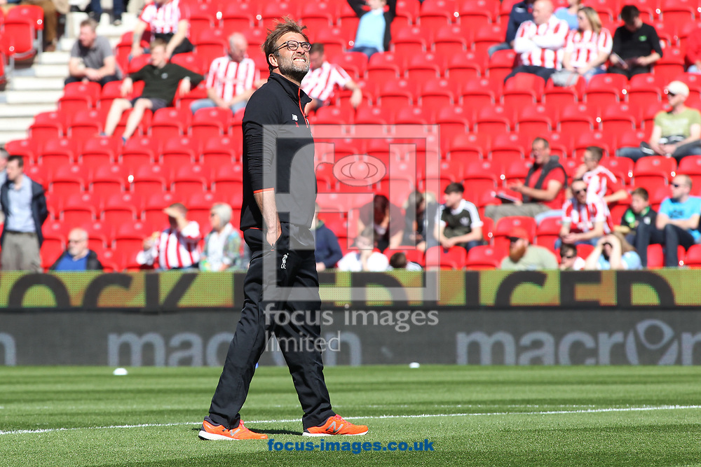 J&uuml;rgen Klopp, manager of Liverpool takes in the sun prior to the Premier League match against Stoke City at the Bet 365 Stadium, Stoke-on-Trent.<br /> Picture by Michael Sedgwick/Focus Images Ltd +44 7900 363072<br /> 08/04/2017