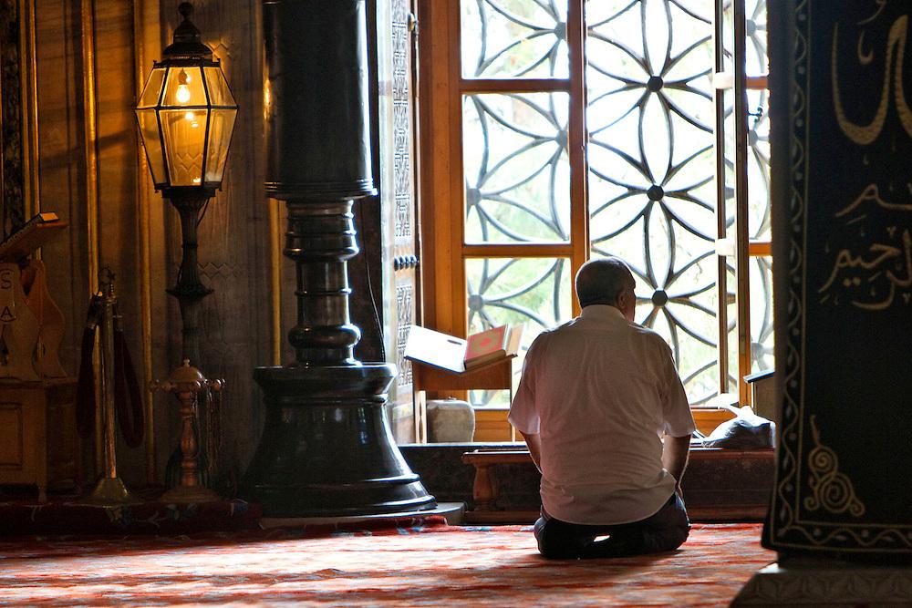 Prayer mosque Istanbul Turkey