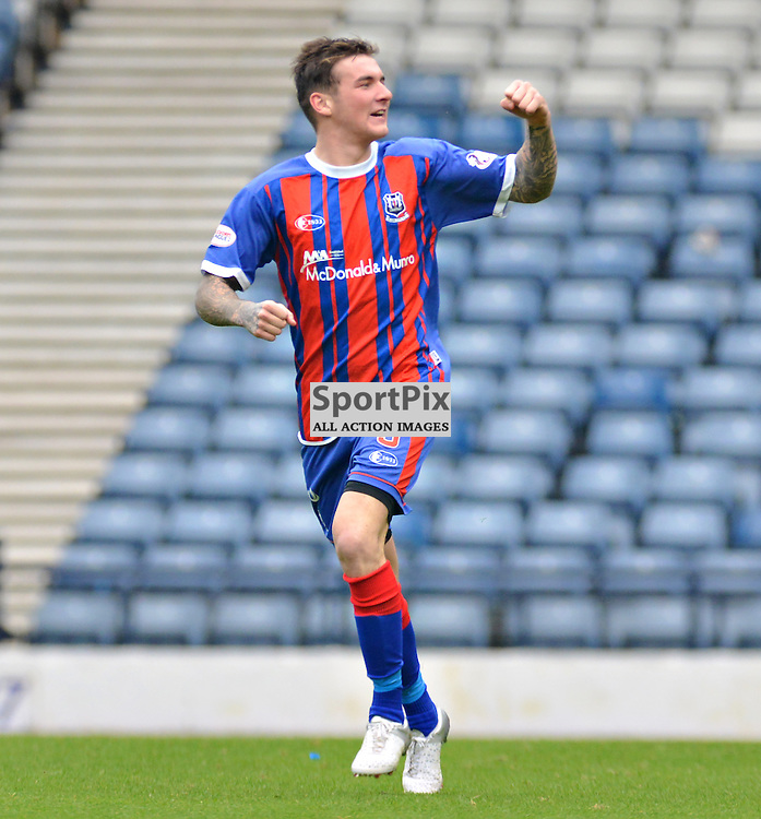 Elgin's Darryl McHardy celebrates pulling his side back into the Petrofac Cup game at Hampden.....(c) BILLY WHITE | SportPix.org.uk