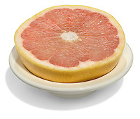 grapefruit in a white bowl