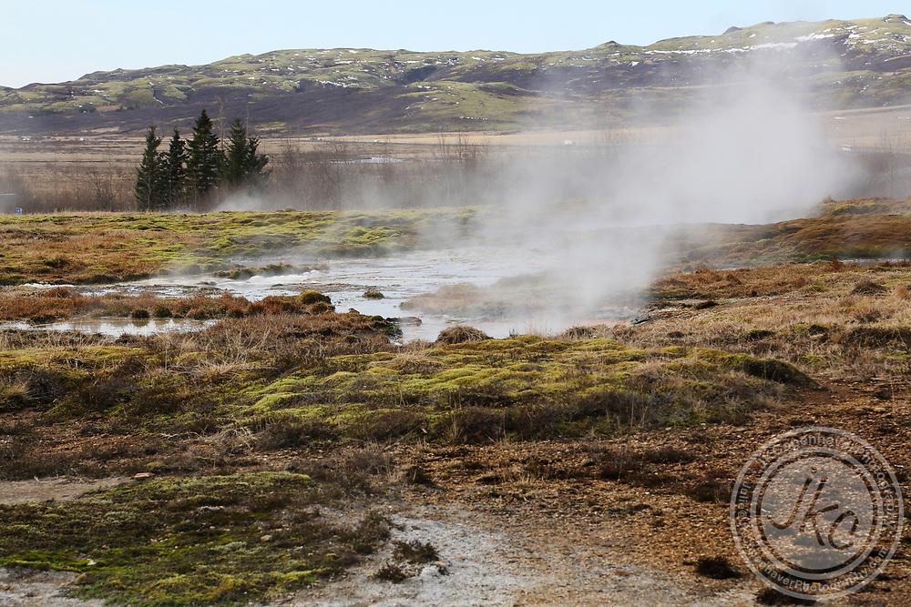 Iceland Geothermal Geyser