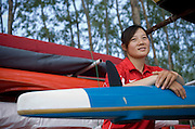 Women Kayakers on China's Olympic team