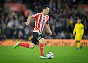 Southamptons Maya Yoshida makes a run before scoring the opening goal during the Capital One Cup match between Southampton and Aston Villa at the St Mary's Stadium, Southampton, England on 28 October 2015. Photo by Adam Rivers.
