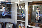 window display at the Enomoto portrait studio and photo store in Yokosuka Japan