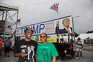 Aug. 21. 2015 Mobile, AL, A couple from  Montgomery that come to check out Trump  at his campaign pep rally in Ladd Peebles Stadium becuase they were bored and curious.