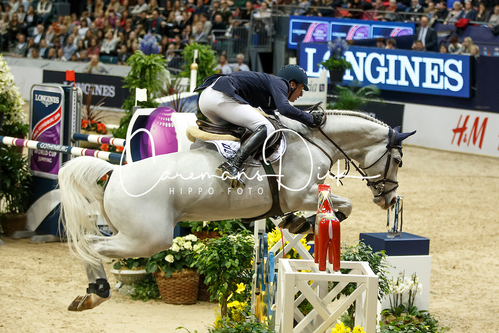 Deusser Daniel, (GER), Cornet D Amour<br /> Longines FEI World Cup Jumping Part III - Goteborg 2016<br /> © Hippo Foto - Dirk Caremans<br /> 28/03/16
