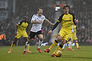 Burton Albion midfielder Martin Samuelsen (20) controls the ball during the EFL Sky Bet Championship match between Fulham and Burton Albion at Craven Cottage, London, England on 20 January 2018. Photo by Richard Holmes.