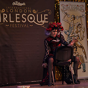 Cherry Boomb Hastings New Zealand preforms at the London Burlesque Festival the VIP Opening Gala at Conway Hall on 18th May 2017, UK. by See Li