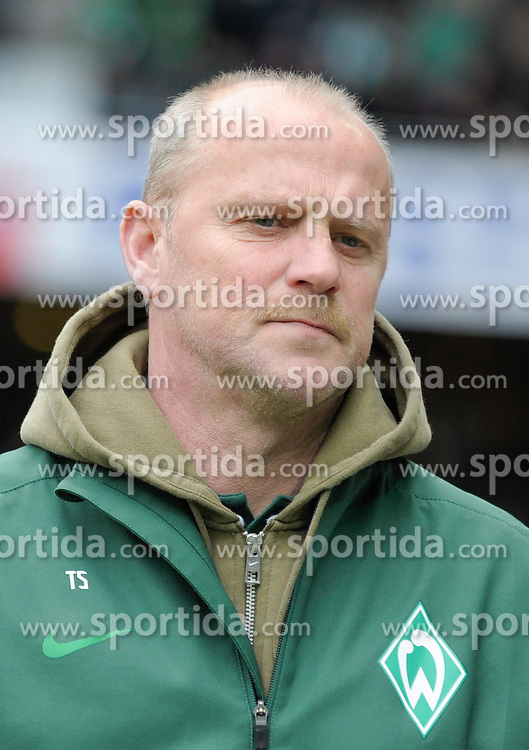 31.03.2012, Weserstadion, Bremen, GER, 1. FBL, SV Werder Bremen vs 1. FSV Mainz 05, 28. Spieltag, im Bild Thomas SCHAAF, Trainer von Werder Bremen, Portrait // during the German Bundesliga Match, 28th Round between SV Werder Bremen and 1. FSV Mainz 05 at the Weserstadium, Bremen, Germany on 2012/03/31. EXPA Pictures © 2012, PhotoCredit: EXPA/ Eibner/ Stefan Schmidbauer..***** ATTENTION - OUT OF GER *****