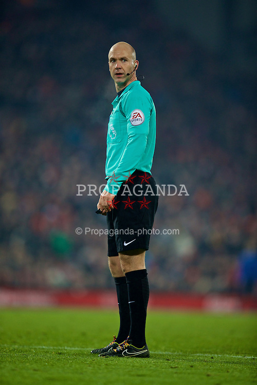 LIVERPOOL, ENGLAND - Saturday, November 26, 2016: Referee Anthony Taylor during the FA Premier League match between Liverpool and Sunderland at Anfield. (Pic by David Rawcliffe/Propaganda)