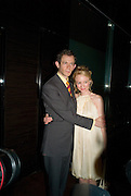 Adam Godley; Mary Stockley, After party for the new production of ' The Rain Man' The Trafalgar Hotel London. 10 September 2008 *** Local Caption *** -DO NOT ARCHIVE-© Copyright Photograph by Dafydd Jones. 248 Clapham Rd. London SW9 0PZ. Tel 0207 820 0771. www.dafjones.com.