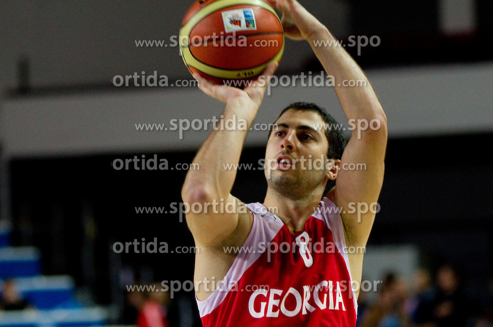 George Tsintsadze  during practice session of Georgia's National basketball team 1 day before Eurobasket Lithuania 2011, on August 29, 2011, in Arena Svyturio, Klaipeda, Lithuania. (Photo by Vid Ponikvar / Sportida)