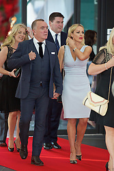 LIVERPOOL, ENGLAND - Thursday, May 12, 2016: Liverpool Chief Executive Officer Ian Ayre and his partner arrive on the red carpet for the Liverpool FC Players' Awards Dinner 2016 at the Liverpool Arena. (Pic by David Rawcliffe/Propaganda)