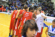 DESCRIZIONE : Campionato 2013/14 Dinamo Banco di Sardegna Sassari - Grissin Bon Reggio Emilia<br /> GIOCATORE : Team<br /> CATEGORIA : Ritratto Delusione<br /> SQUADRA : Grissin Bon Reggio Emilia<br /> EVENTO : LegaBasket Serie A Beko 2013/2014<br /> GARA : Dinamo Banco di Sardegna Sassari - Grissin Bon Reggio Emilia<br /> DATA : 08/12/2013<br /> SPORT : Pallacanestro <br /> AUTORE : Agenzia Ciamillo-Castoria / Luigi Canu<br /> Galleria : LegaBasket Serie A Beko 2013/2014<br /> Fotonotizia : Campionato 2013/14 Dinamo Banco di Sardegna Sassari - Grissin Bon Reggio Emilia<br /> Predefinita :
