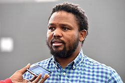 South Africa: Johannesburg: Black First Land First leader Andile Mngxitama, at the state capture inquiry as finance minister Nhlanhla Nene testifies, the inquiry is investigating allegations of corruption centred around the controversial Gupta family. Gauteng.<br /> 03.10.2018<br /> Picture: Itumeleng English/African News Agency (ANA)