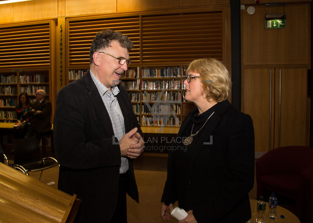 14.10.2016                 <br /> A new research centre focussing on Irish and European history and culture was launched in Limerick.<br /> <br /> Pictured at the event were, Michael Breen, Dean of Arts, Mary Immaculate College, Limerick and Prof. Jane Ohlmeyer, Erasmus Smith&rsquo;s Chair of Modern History, Trinity College Dublin, Director of the Trinity Long Room Hub, and Chair of the Irish Research Council.<br /> <br /> The Centre for Early Modern Studies brings together experts from University of Limerick and Mary Immaculate College to further the study of the history and culture of the 16th, 17th and 18th centuries. <br /> <br /> The Centre for Early Modern Studies was launched  with an inaugural lecture by Professor Jane Ohlmeyer, Erasmus Smith&rsquo;s Chair of Modern History, Trinity College Dublin, Director of the Trinity Long Room Hub, and Chair of the Irish Research Council. Professor Ohlmeyer spoke on the topic of &lsquo;Early Modern Ireland and the Wider World&rsquo;.<br /> Picture: Alan Place