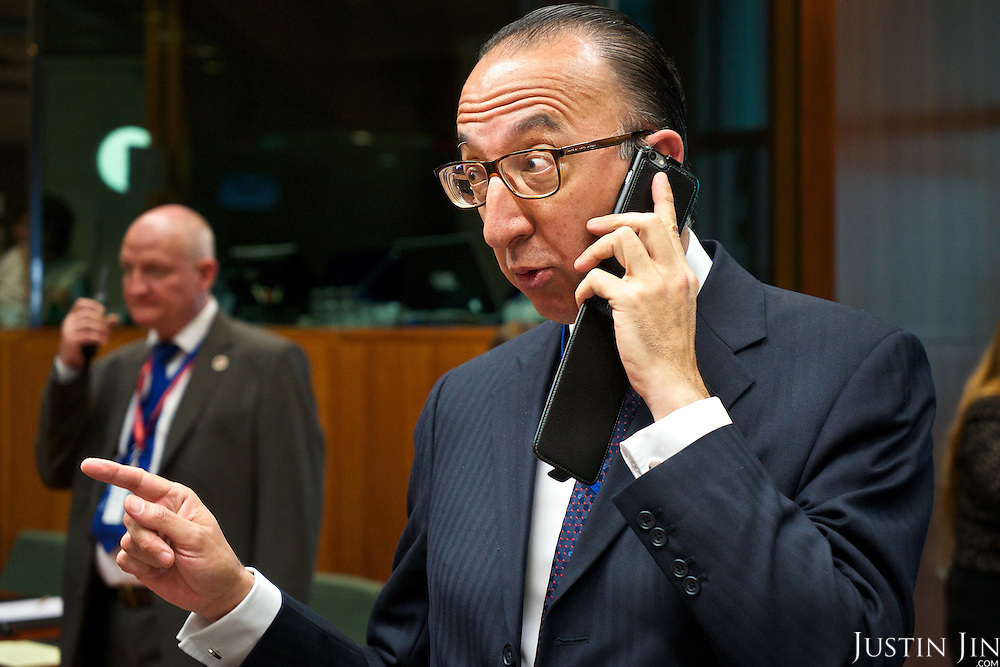 Jorge Domecq, head of the European Defence Agency, at a EU Council meeting on migration.