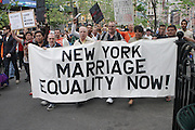 Atmosphere at The Proposition 8 Protest March and Rally sponsored by New York Marriage Equality Now held at Union Square Park on May 26, 2009 in New York City