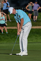 August 9, 2018 - Town And Country, Missouri, U.S - BRANDT SNEDEKER from Nashville Tennessee, USA  putts on the 14th green during round one of the 100th PGA Championship on Thursday, August 8, 2018, held at Bellerive Country Club in Town and Country, MO (Photo credit Richard Ulreich / ZUMA Press) (Credit Image: © Richard Ulreich via ZUMA Wire)