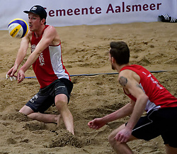 04-01-2020 NED: NK Beach volleyball Indoor, Aalsmeer<br /> Cain van Hal #1, Sven de Koe #2