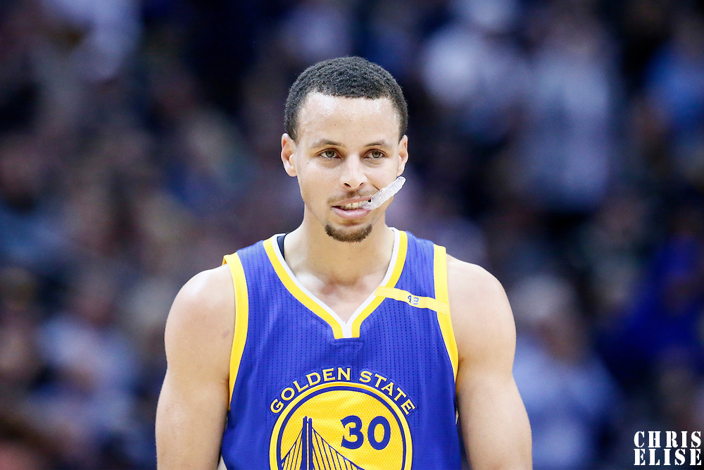 13 February 2017: Golden State Warriors guard Stephen Curry (30) is seen during the Denver Nuggets 132-110 victory over the Golden State Warriors, at the Pepsi Center, Denver, Colorado, USA.