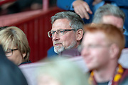 Craig Levein, manager of Heart of Midlothian in the stand during the Ladbrokes Scottish Premiership match between Motherwell and Heart of Midlothian at Fir Park, Motherwell, Scotland on 15 September 2018.
